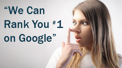Guaranteed Google Ranking is a Scam
