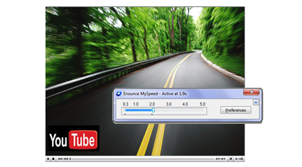 Speed up streaming video
